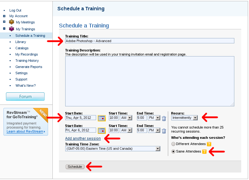 GoToTrainingScheduleExample.png